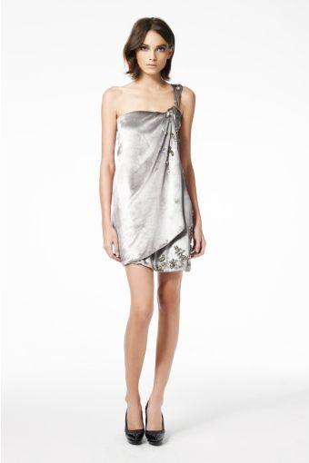 Valetta Dress in Silver