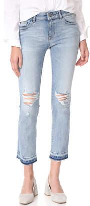 DL1961 Mara Instasculpt Straight Ankle Jeans $198 thestylecure.com