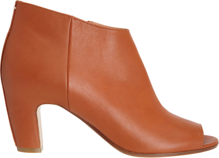 Maison Martin Margiela Short Peep Toe Ankle Boot