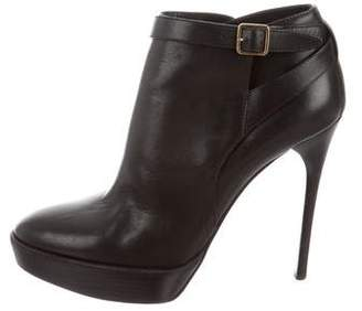 Burberry Platform Ankle Boots