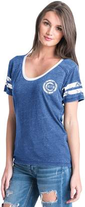 Women's Chicago Cubs Burnout Wash Tee