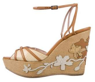 Salvatore Ferragamo Snakeskin Wedge Sandals