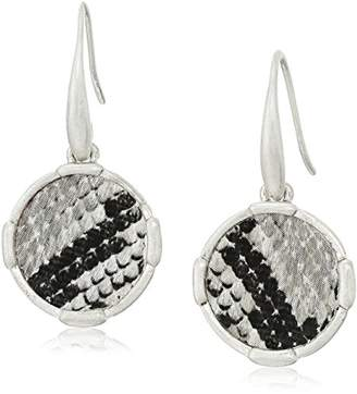 The Sak Inlay Circle Drop Earrings