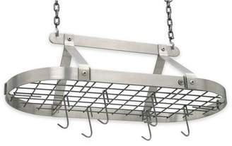 Enclume Hammered Steel Classic Oval Ceiling Pot Racks