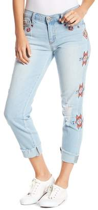 Jessica Simpson Mika Boot Cut Embroidered Jeans