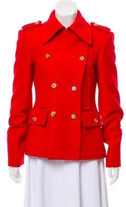 Michael Kors Wool and Fur Blend Coat
