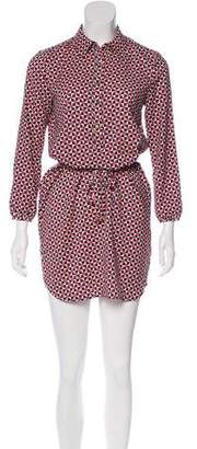 Juicy Couture Geometric Print Belted Dress