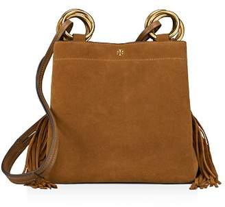 Tory Burch Farrah Small Fringe Suede Tote