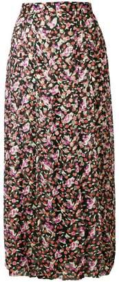 Vanessa Seward floral flared midi skirt