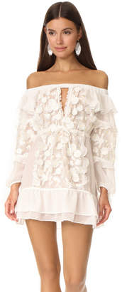 For Love & Lemons Dress Off Shoulder Tunic $293 thestylecure.com