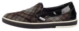 Jimmy Choo Ponyhair Slip-On Sneakers