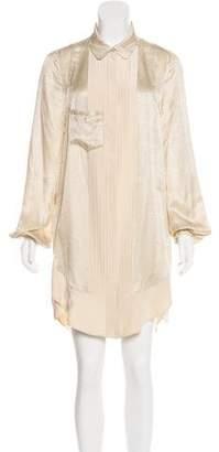Balenciaga Animal Print Silk Dress