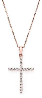 Bloomingdale's Diamond Cross Necklace in 14K Rose Gold, .25 ct. t.w. - 100% Exclusive