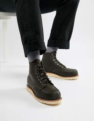 Red Wing Shoes 6 Inch Classic moc toe boots in charcoal leather