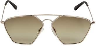 Geometric Aviator Sunglasses