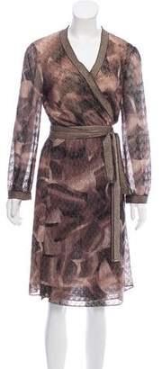 Missoni Metallic Wrap Dress