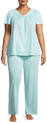 Miss Elaine COLLETTE BY Collette By 2-pc Pajama Set-Plus