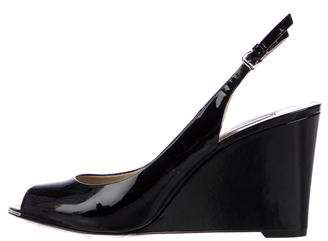 Michael Kors Patent Leather Slingback Wedges