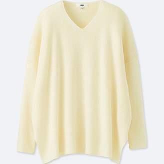 Uniqlo Women's Ribbed Boxy V-Neck Long Sweater