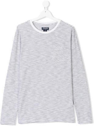Woolrich Kids TEEN long-sleeve striped T-shirt