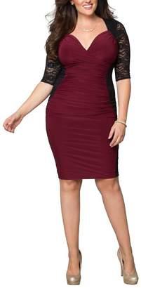 ca3e8fbe499fb Dilanni Women Bodycon Bandage Plus Size Dress For Special Occasion (Bugundy  5X)