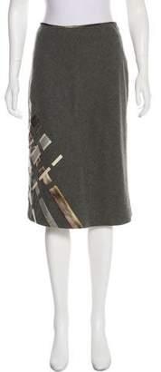 Lela Rose Wool A-Line Skirt