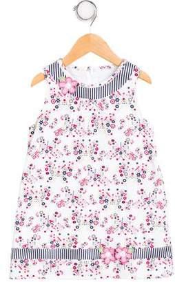 Florence Eiseman Girls' Sleeveless Floral Print Dress