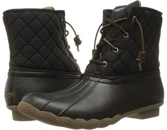 Sperry Saltwater Quilted Nylon Women's Lace-up Boots