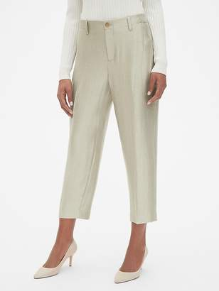 Gap Girlfriend Crop Khakis in Metallic Satin