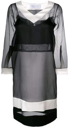 Gianluca Capannolo contrast sheer dress