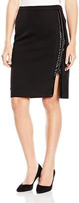Axara Paris Women's Body con Plain or unicolor Skirt Black Black
