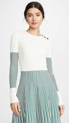 Cédric Charlier Contrast Sleeve Sweater
