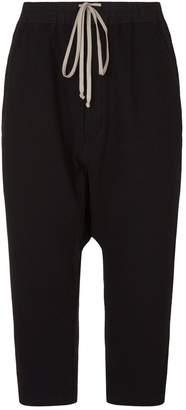 Rick Owens Cropped Drop Crotch Sweatpants