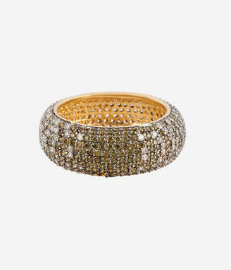 Henri Bendel Luxe Pave Ribbon Ombre Ring