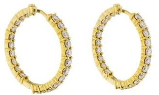 Roberto Coin 18K Diamond Inside-Out Diamond Hoops