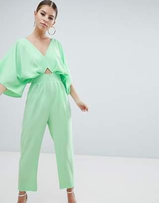 Asos Design DESIGN jumpsuit with kimono sleeve and peg leg