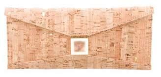 Kara Ross Metallic Cork Clutch Natural Metallic Cork Clutch