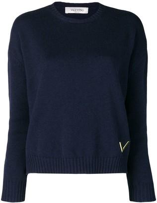 Valentino cashmere crew neck sweater