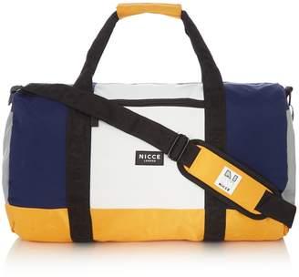 Nicce Nylon Colour Block Barrel Bag