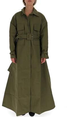Jacquemus Belted Flared Trench Coat