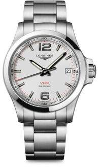 Longines Conquest V.H.P. Stainless Steel Sapphire Crystal Bracelet Watch