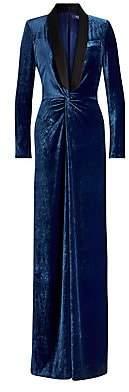 Ralph Lauren Women's Caldwell Velvet Tuxedo Jumpsuit