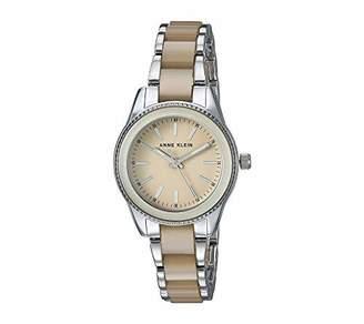 Anne Klein Women's AK/3213TNSV Silver-Tone and Tan Resin Bracelet Watch