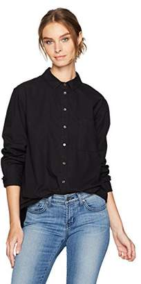 Velvet by Graham & Spencer Women's Cotton Poplin Button Down Shirt