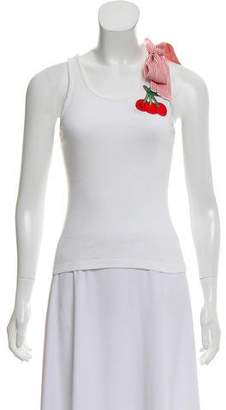 Anna Sui Cherry Sleeveless Top