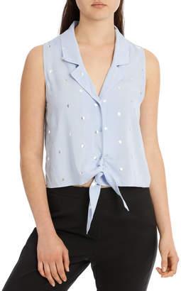 Miss Shop Sleeveless Tie Front Shirt