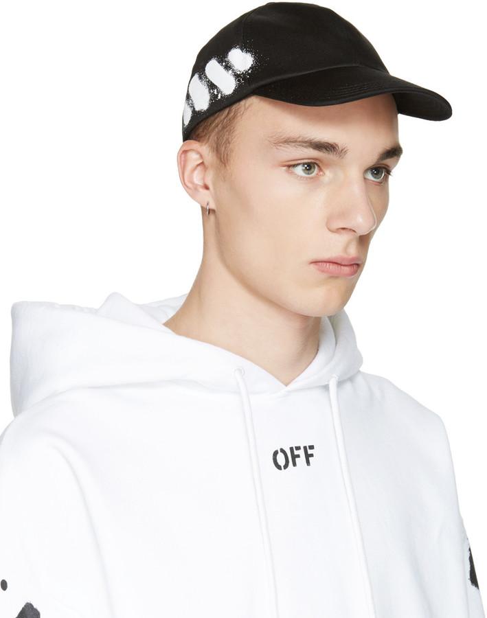 Off-White Black Diagonal Spray Cap 3