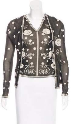 Chanel Polka Dot Cardigan Set