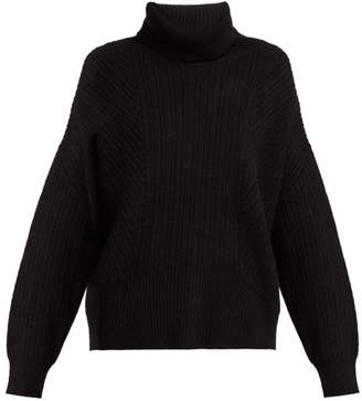 Nili Lotan Kiernan Ribbed Knit Cashmere Roll Neck Sweater - Womens - Black