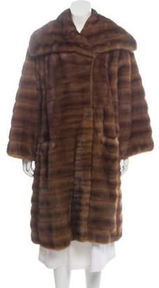 Saint Laurent Long Mink Fur Coat